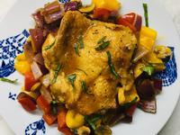 [低醣飲食]哈里薩辣醬烤雞-氣炸鍋/烤箱