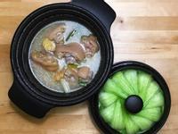 白煨燉豬腳+蒸青江