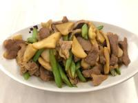 【輕食上菜】❷白靈菇炒肉片四季豆
