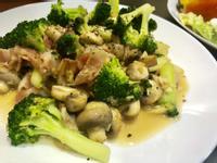 蒜炒奶油蘑菇花椰菜