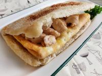 蘑菇雞肉蛋燒餅堡