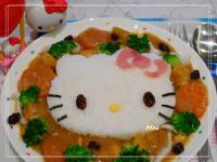 【親子食堂】Hello Kitty咖哩雞飯飯