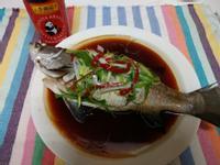 油淋清蒸鱸魚