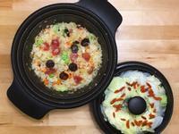 臘味炒飯+白菜鮮蒸