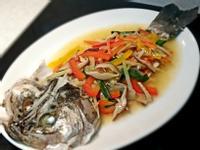 清蒸五柳鱸魚