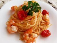 番茄鮮蝦義大利麵(一鍋到底煮法)
