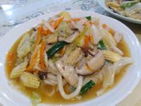 素食炒烏龍麵