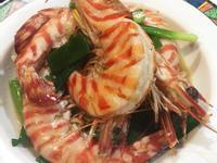 蔥爆大明蝦,味道鮮美肉質彈牙