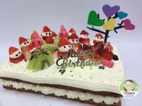 草莓巧克力方形優格蛋糕