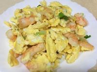 蝦仁蒜味炒蛋