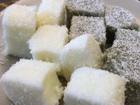 椰香牛奶雪花糕+抹茶雪花糕