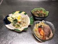 鮮食🐾親子丼 肉末炒菜 番茄豆芽湯