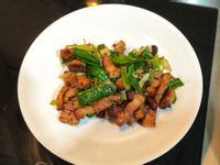 蒜炒鹹豬肉