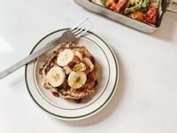 超簡單 - 香蕉肉桂燕麥鬆餅
