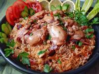 電鍋版沙烏地香料雞肉飯Kabsa