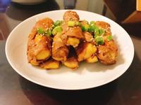 醬燒雞蛋豆腐豬肉捲