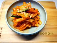 自己作韓國辣醃蘿蔔絲김치泡菜