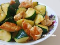 櫛瓜香煎雞肉 簡易。家常菜