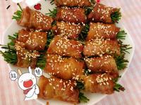 氣炸鍋水蓮梅花豬肉卷