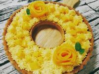 芒果玫瑰花花圈塔