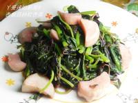 ㄚ曼達的廚房~黃金玄米油清爽料理~杏鮑菇炒紅杏菜