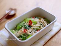 青江菜辣拌金針菇