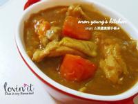 咖喱紅蘿蔔地瓜雞腿肉 家常菜。晚餐