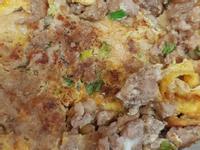麵線絞肉雞蛋煎