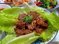 韓式生菜包肉(辣牛肉)