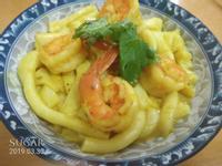 咖喱炒蝦河粉
