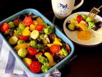 農夫烤時蔬與太陽蛋 (減醣低醣生酮蛋奶素