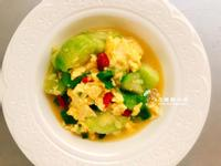 滑蛋枸杞絲瓜(蔬食家常菜)