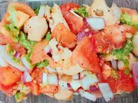 夏日涼涼🥗莎莎醬佐雞肉秀珍菇溫沙拉