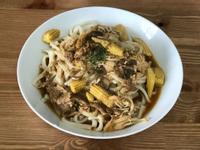 素食黑胡椒蘑菇鐵板麵