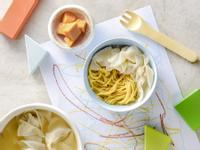 寶寶食譜/鮮蝦餛飩寶寶麵 搭配木瓜