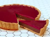 覆盆莓生巧克力塔