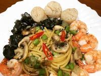高蛋白「海鮮清炒義大利麵」700卡