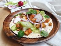 沙威瑪風烤凍豆腐pita三明治