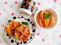 白巧克力列日鬆餅♥無蛋版,電鍋發酵法