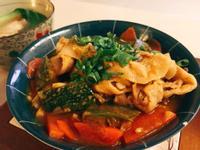 南瓜炒蔬菜豬肉