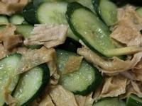 小黃瓜炒豆皮