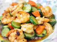【黃金玄米油清爽料理】醬燒蝦仁黃瓜片