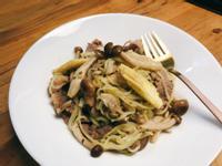 低醣廚房-清炒蒜味牛小排義大利麵