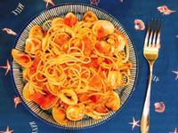 鮮甜入口《蕃茄海鮮義大利麵》
