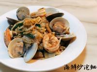 沙茶海鮮炒泡麵