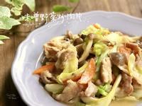 味噌野菜炒肉片-手繪食譜