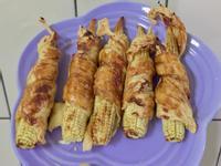 氣炸鍋料理 豆皮玉米筍