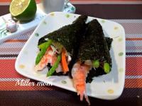 日式蘆筍鮮蝦手捲