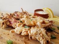 影音食譜: 用氣炸鍋做夜市炸魷魚
