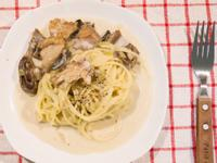 洋菇奶油義大利麵